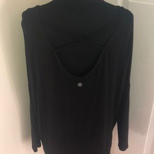 Open Back, Oversized Dolman Shirt XS